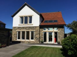 double and single storey extension complete